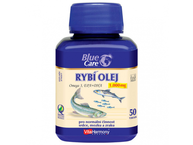 VitaHarmony BLUE CARE Rybí olej 1000mg - Omega 3 EPA+DHA