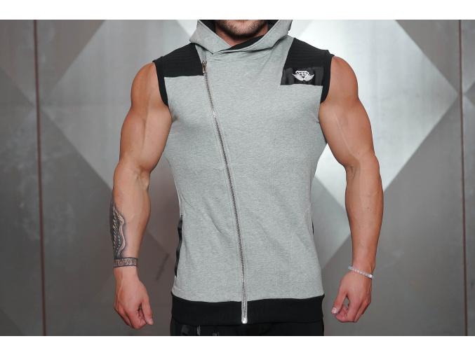 grey sleevless