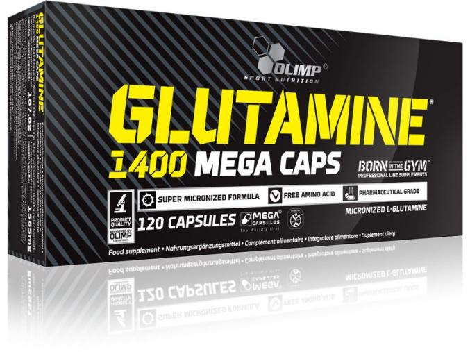 Olimp Glutamine Mega Caps 1400 (Velikost 30 kapslí - EXPIRACE 11/2016)