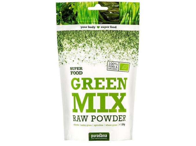 364 purasana green mix powder bio 200g