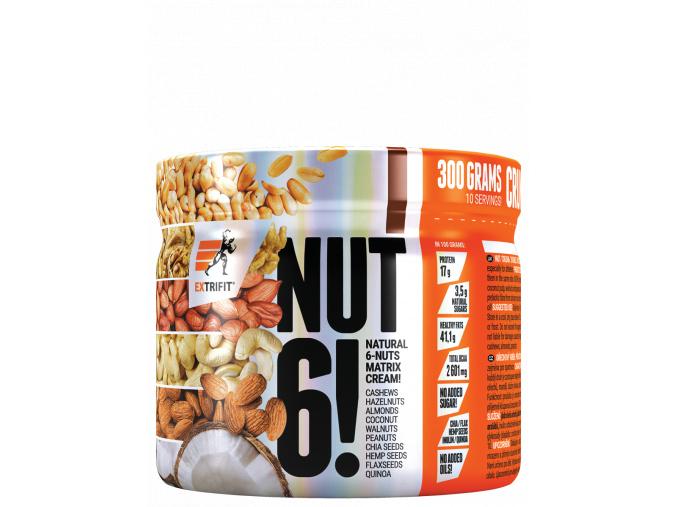 Extrifit Nut 6! 300g (Příchuť Natural - EXPIRACE 6/2019)
