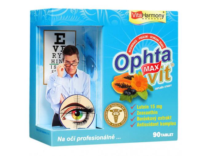 VitaHarmony Ophtavit® MAX s Luteinem pro zdravý zrak po celý život 90tbl