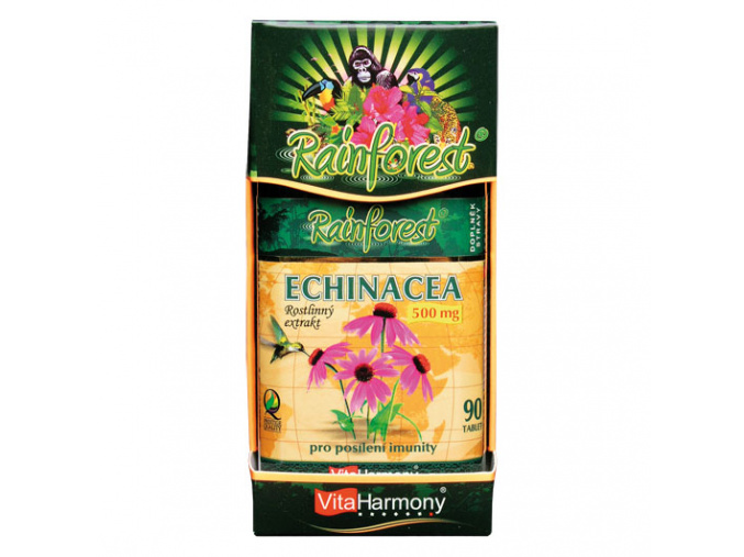 VitaHarmony RainForest® Echinacea 500mg 90tbl