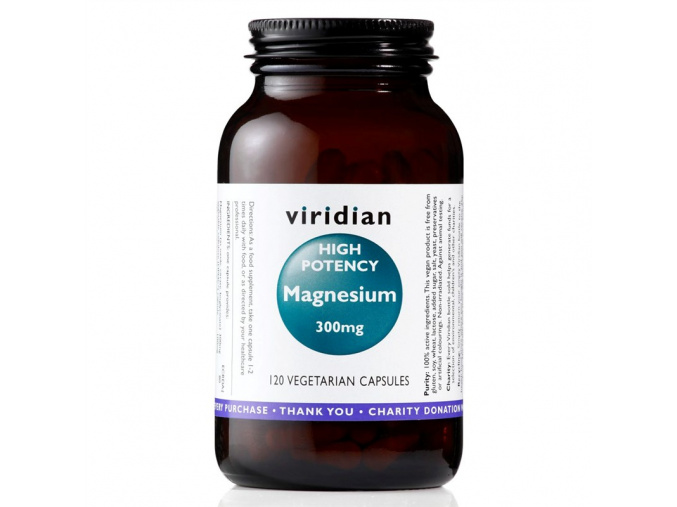 4293 viridian high potency magnesium 300 mg 120 kapsli