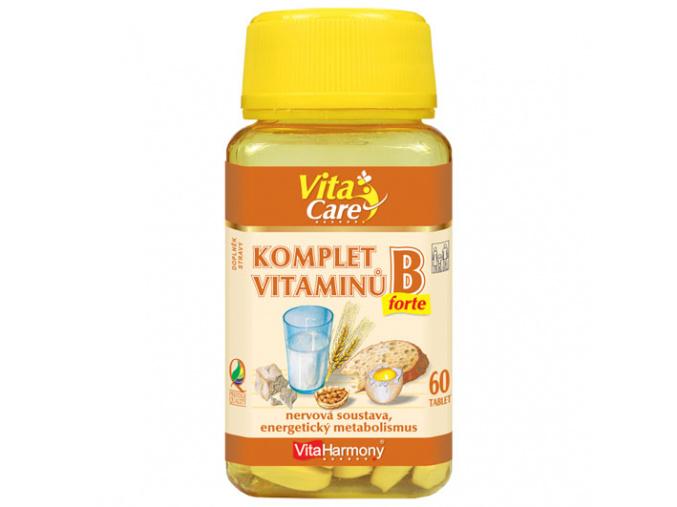 VitaHarmony Komplet vitaminů B forte 60tbl