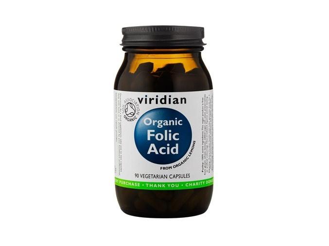 4554 viridian organic folic acid 90 kapsli