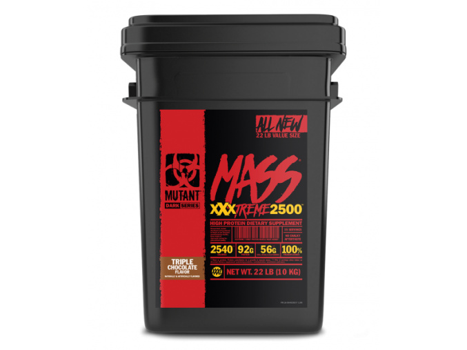 36402ux mutant mass xxxtreme 2500 triple chocolate flavor 22 lbs 10 kg v1.00 ms
