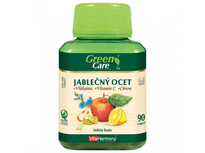 Jablečný ocet + vláknina+ vitamín C + chrom  - 90 kapslí