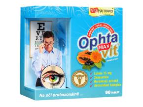 VitaHarmony Ophtavit MAX s Luteinem pro zdravý zrak po celý život 90 tablet