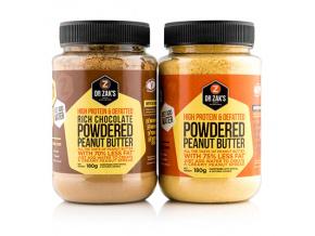 Dr. Zak's Powdered Peanut Butter 180g (Příchuť Neochucené)