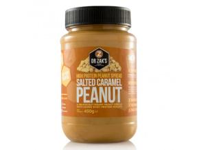 Dr. Zak's High Protein Peanut Spread 320g (Příchuť Slaný karamel)