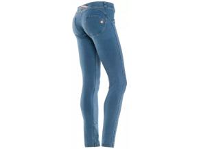 Freddy WR.UP Kalhoty džínové (Velikost s, Barva Tmavě modrá se žlutými švy)