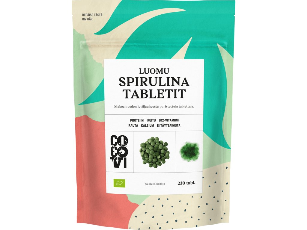 spirulina tabletit 230 FITSTORIES CZ