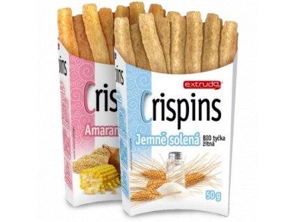 Knuspi Tyčinky Crispins 50g (příchuť jemně solené)