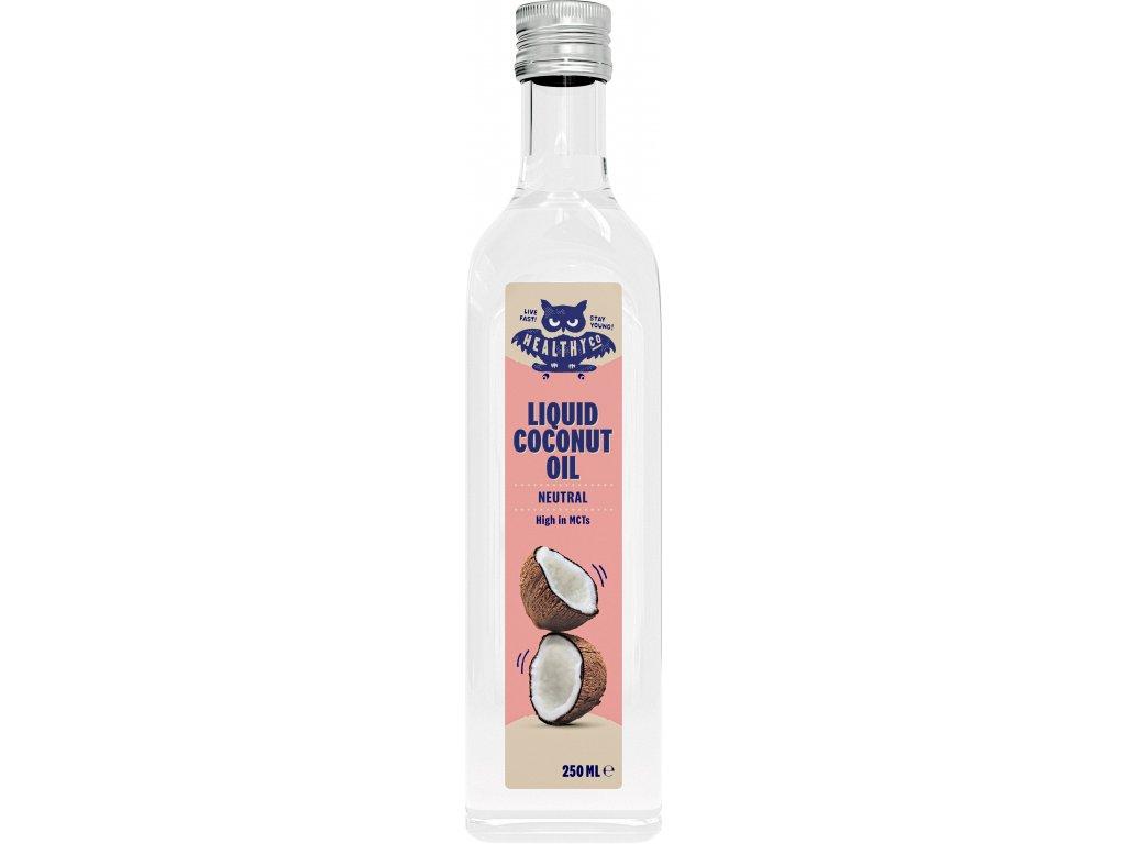 HealthyCo Tekutý kokosový olej - neutrálny 250ml