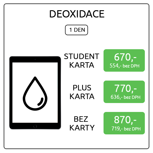iPad 12.9 - deoxidace