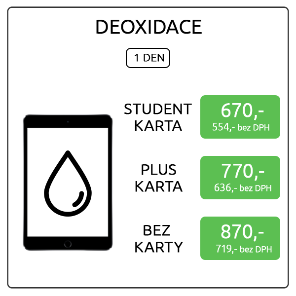 iPad mini 4 - Deoxidace