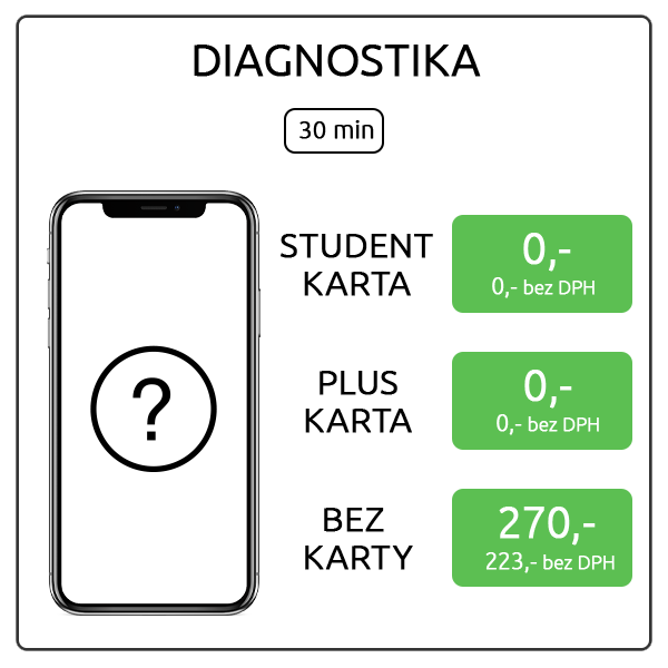 iPhone X - diagnostika