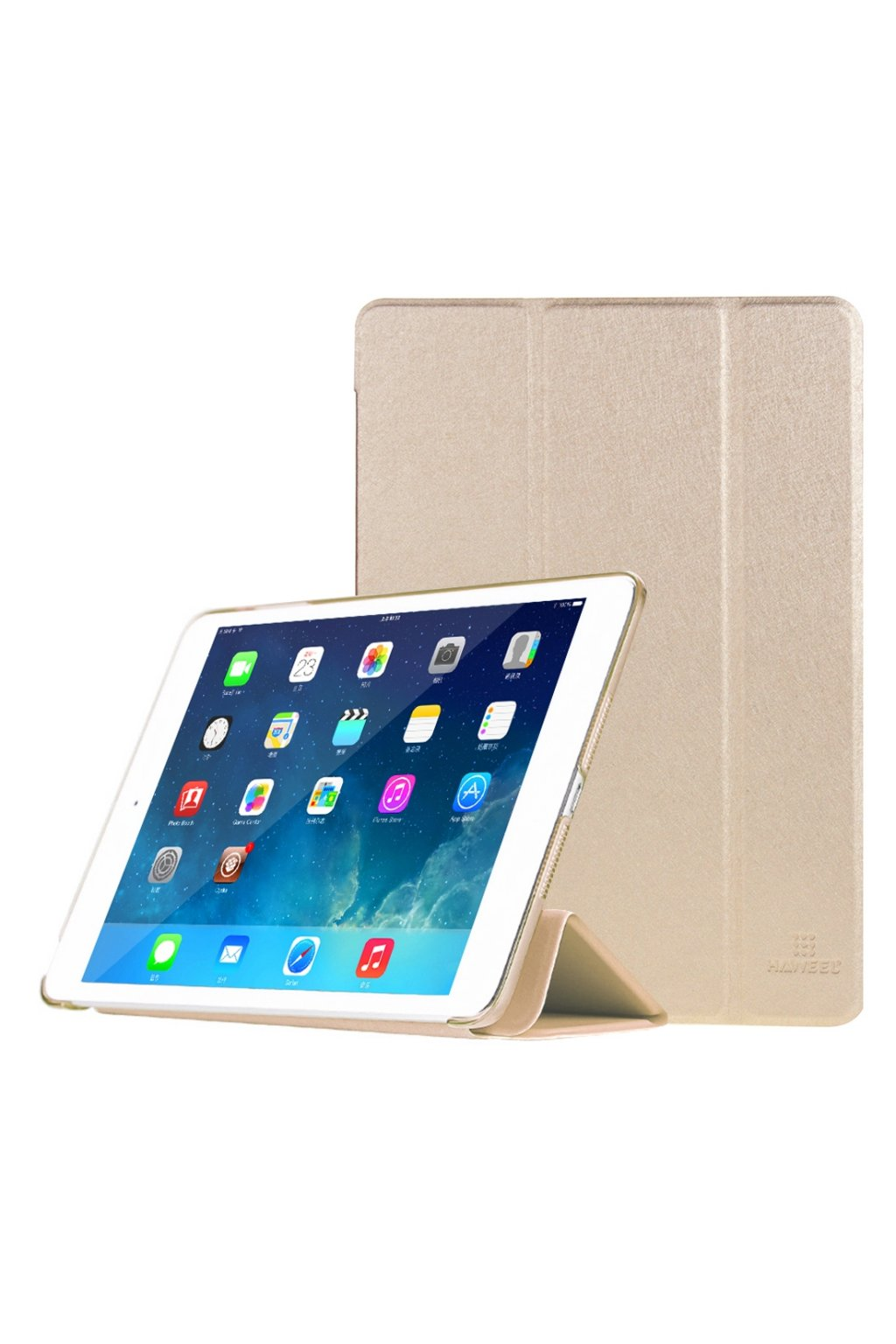 Pouzdro flip HAWEEL Smath Apple iPad Air 2, gold