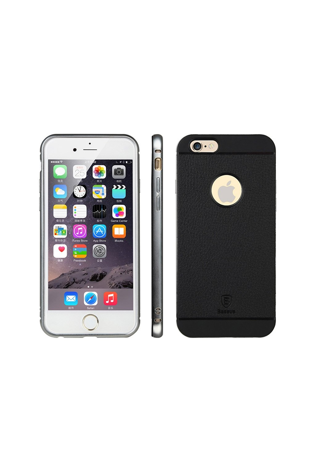 Pouzdro Baseus Bumper Luxury Apple iPhone 6, silver