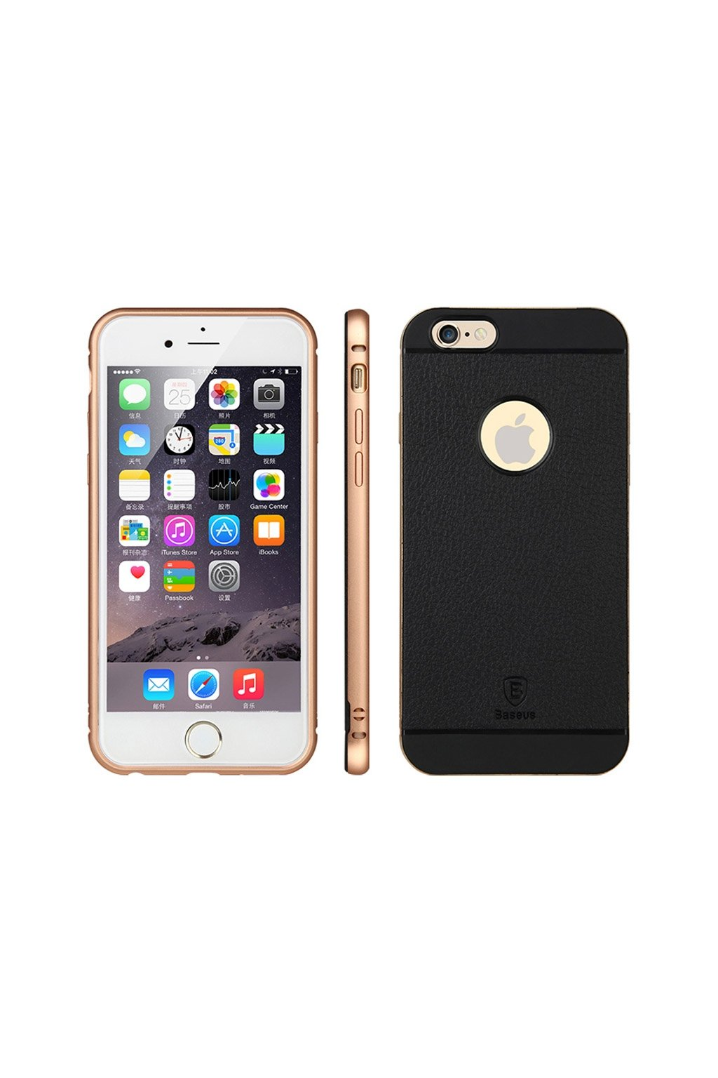 Pouzdro Baseus Bumper Luxury Apple iPhone 6, rose gold