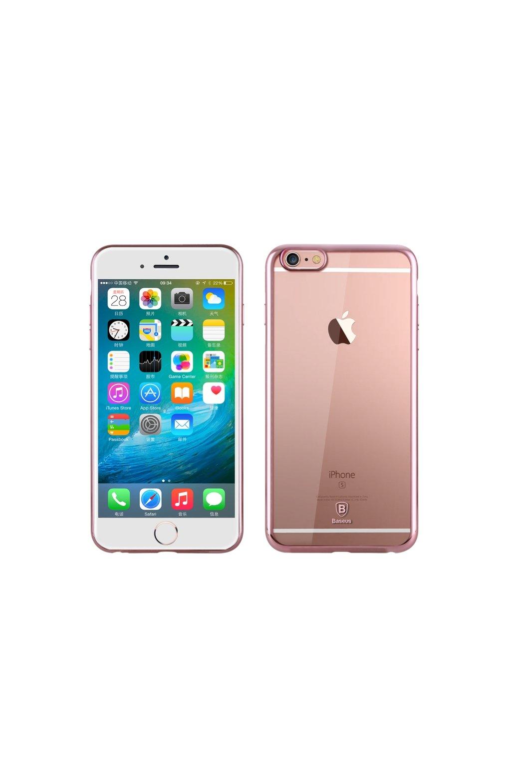Pouzdro Baseus Shining Apple iPhone 6/6S, rose gold