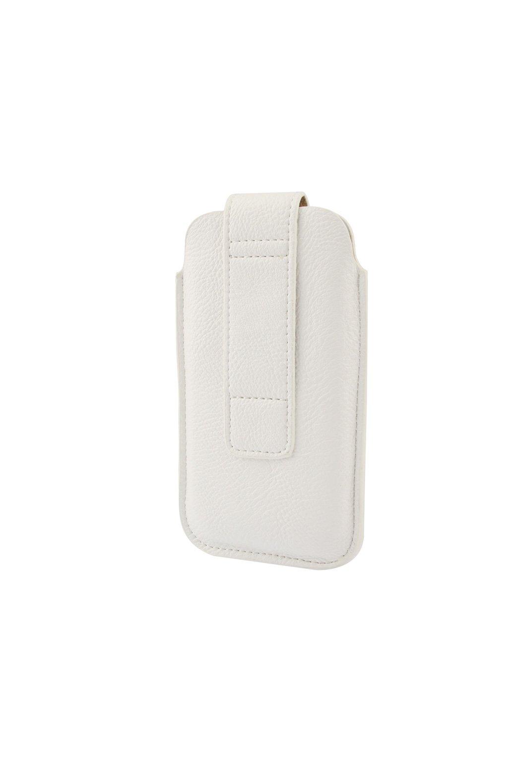 Pouzdro kapsa PU koženkové Apple iPhone 6/6S/7/8, white