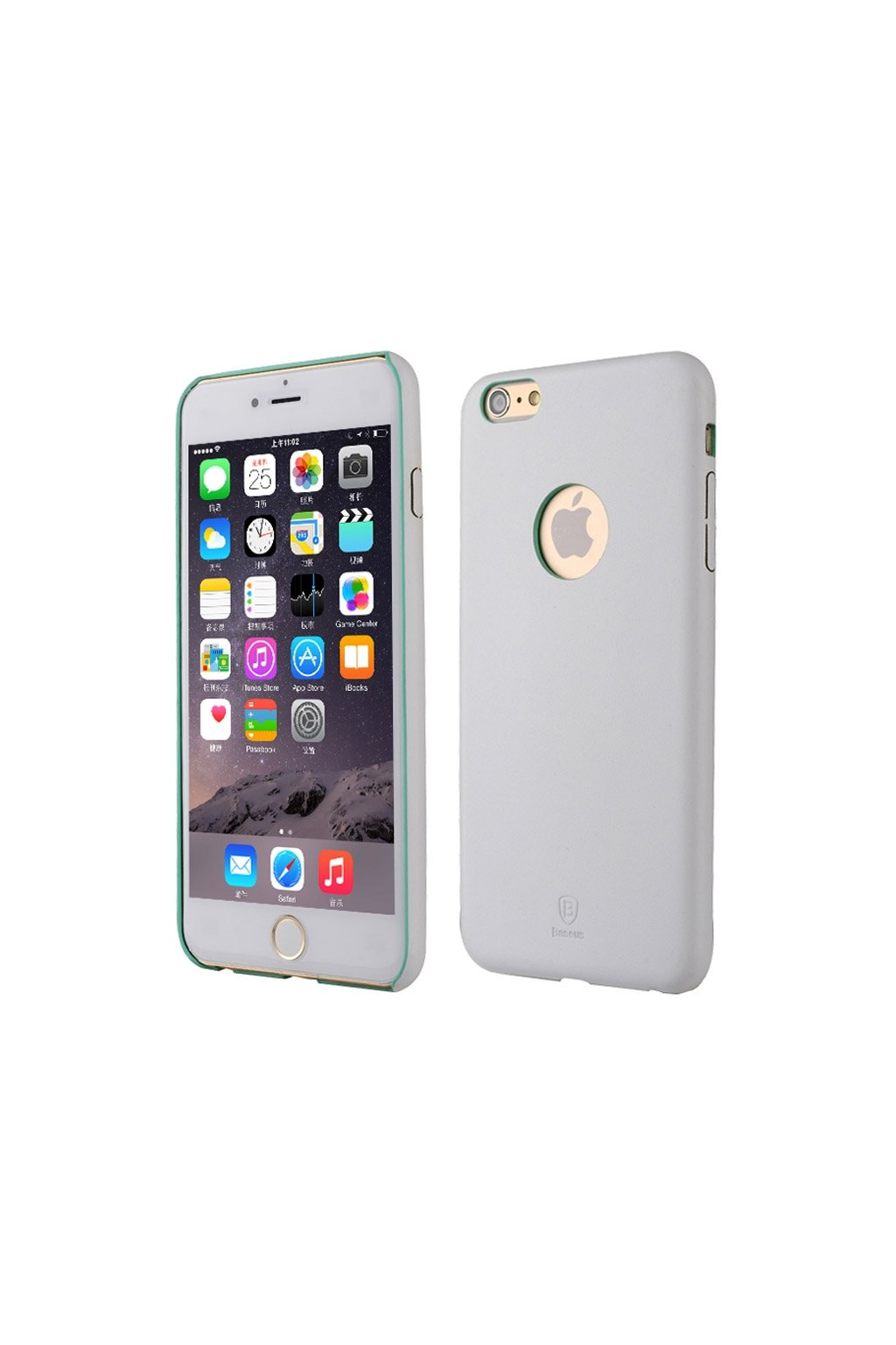 Pouzdro Baseus PU koženkové Apple iPhone 6/6S Plus, white