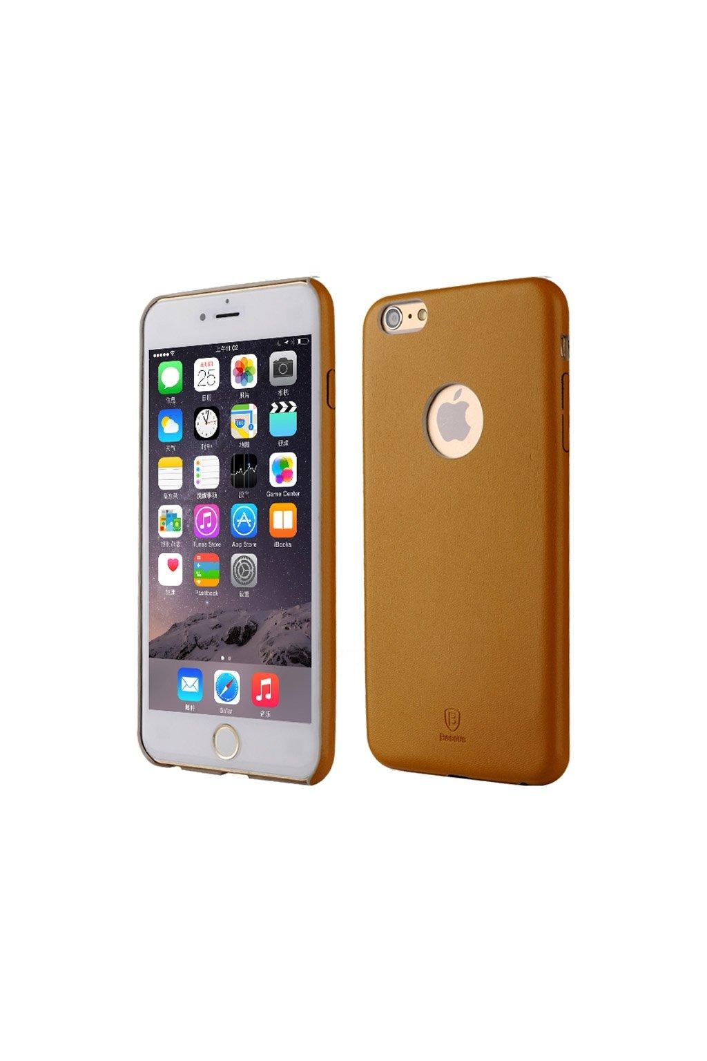 Pouzdro Baseus PU koženkové Apple iPhone 6/6S Plus, brown