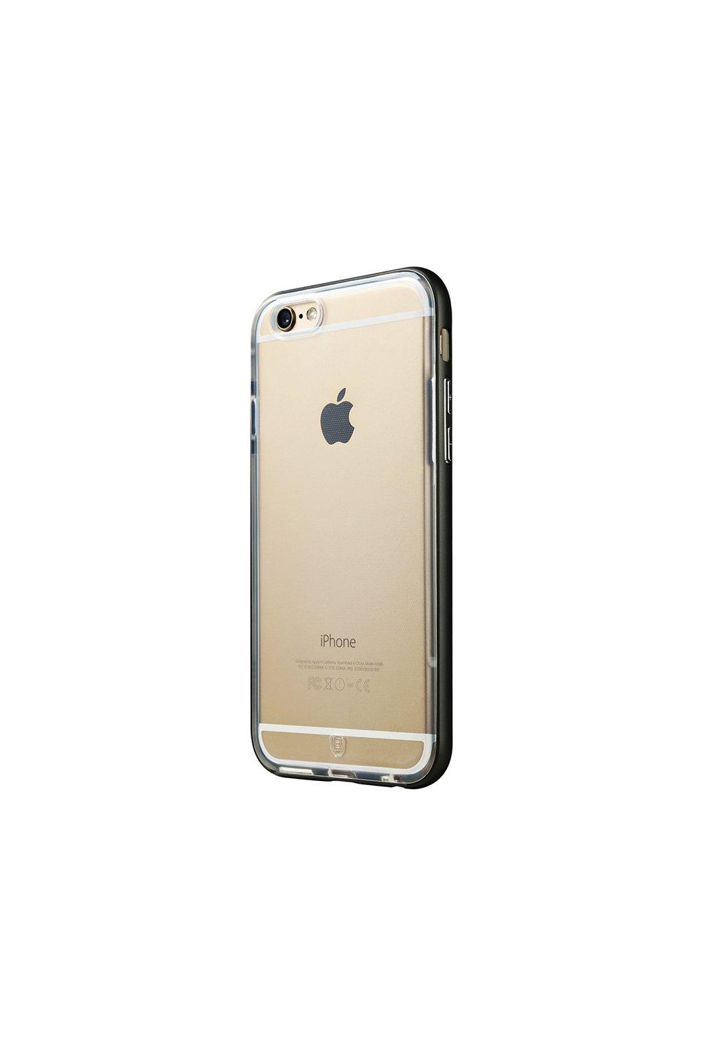 Pouzdro s kovovým rámem Baseus Apple iPhone 6/6S Plus, black