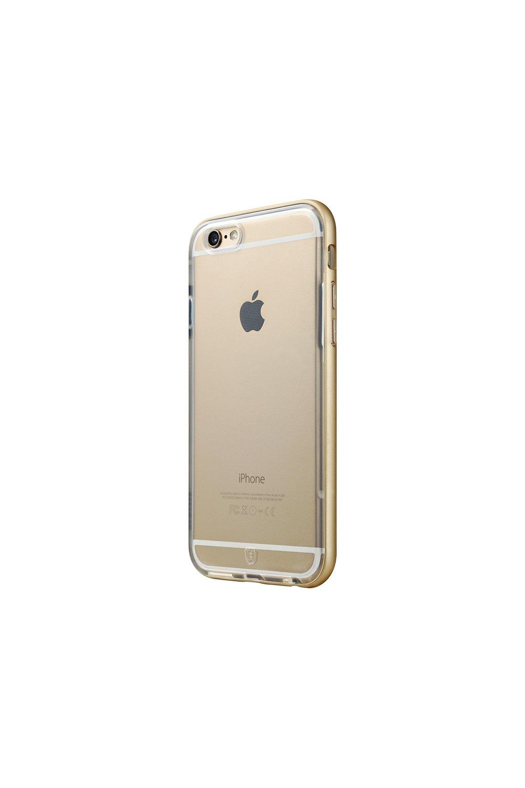 Pouzdro s kovovým rámem Baseus Apple iPhone 6/6S Plus, gold