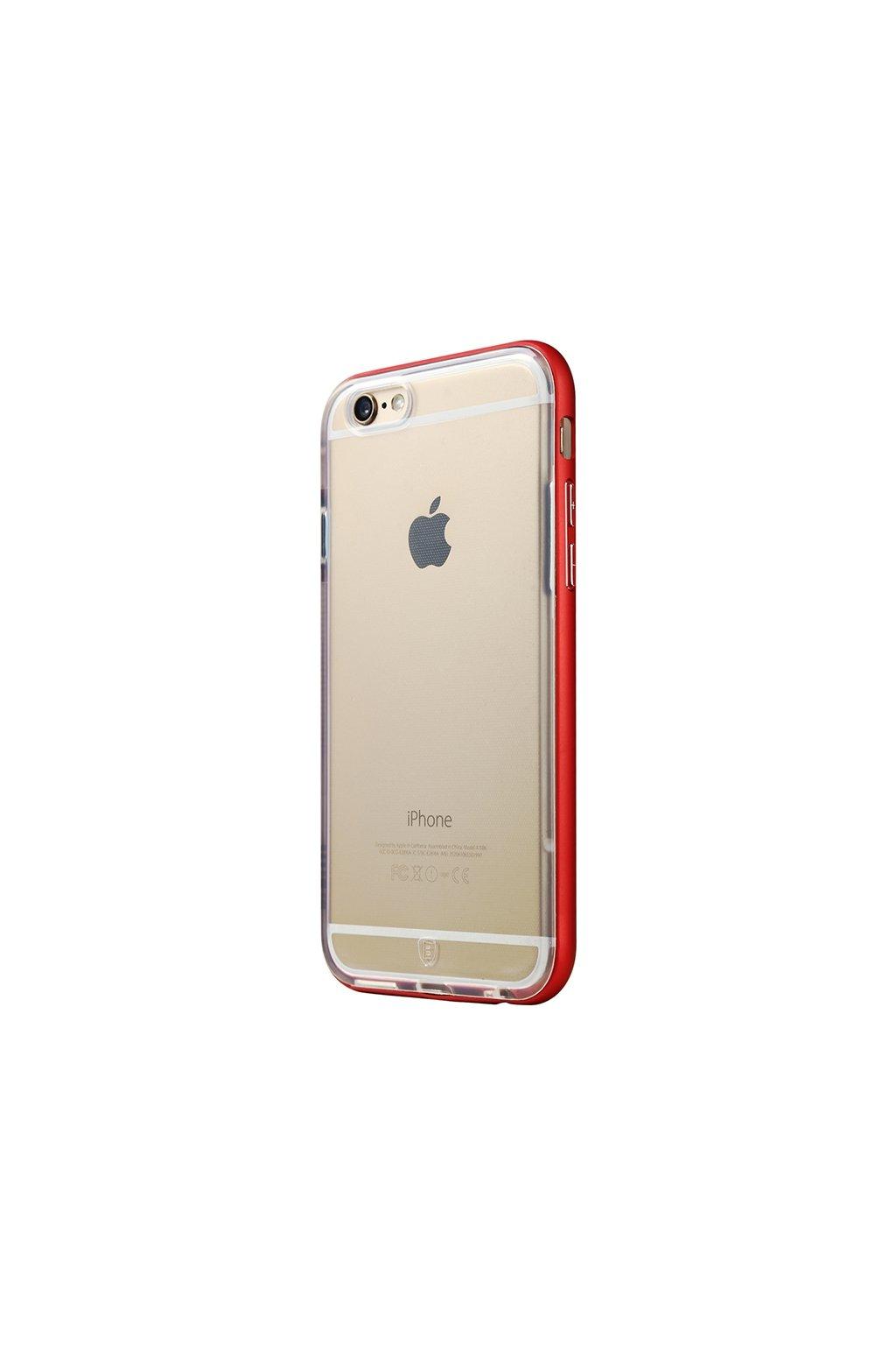 Pouzdro s kovovým rámem Baseus Apple iPhone 6/6S Plus, red