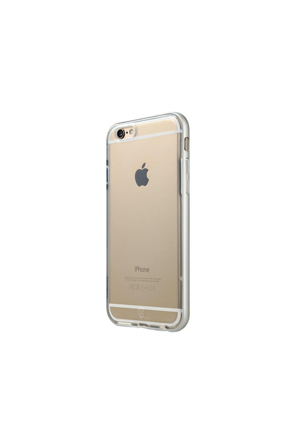 Pouzdro s kovovým rámem Baseus Apple iPhone 6/6S Plus, silver