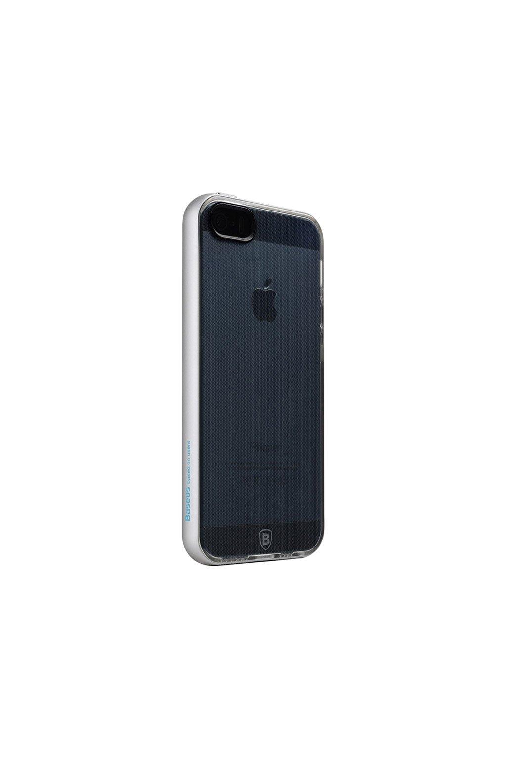 Pouzdro s kovovým rámem Baseus Apple iPhone 5/5S a SE, Silver