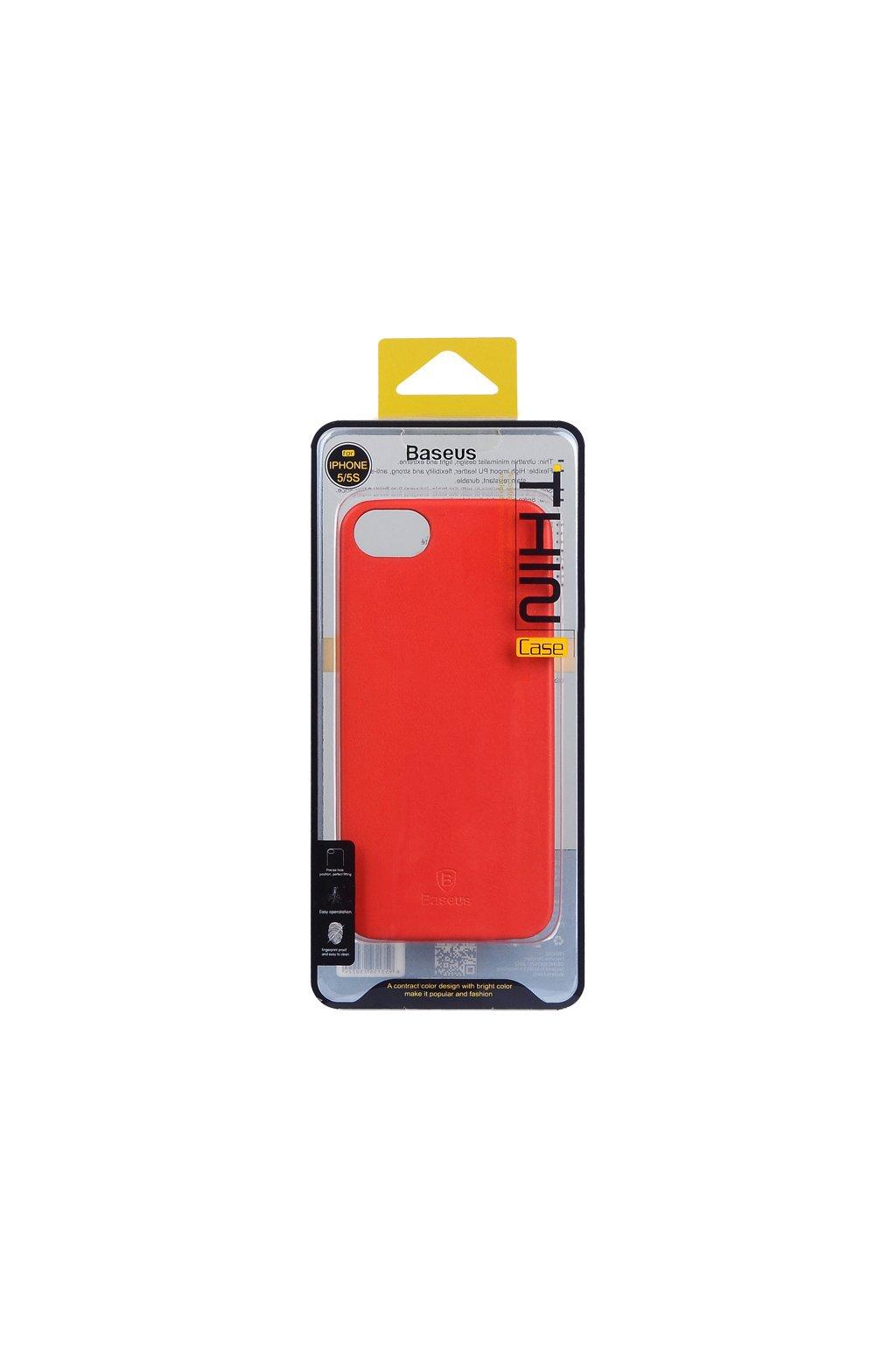 Pouzdro Baseus Thin Apple iPhone 5/5S a SE, red