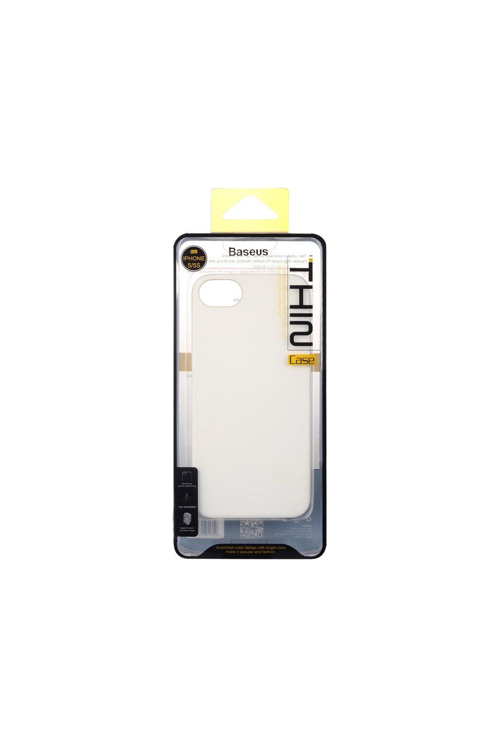 Pouzdro Baseus Thin Apple iPhone 5/5S a SE, white