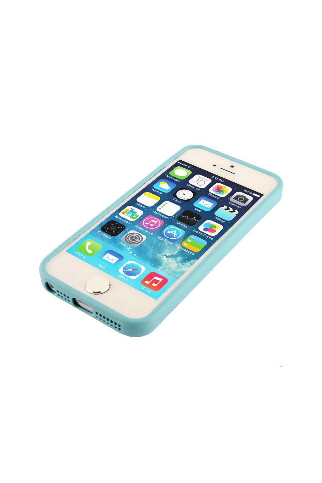 Pouzdro TPU Trim Apple iPhone 5/5S/SE, blue