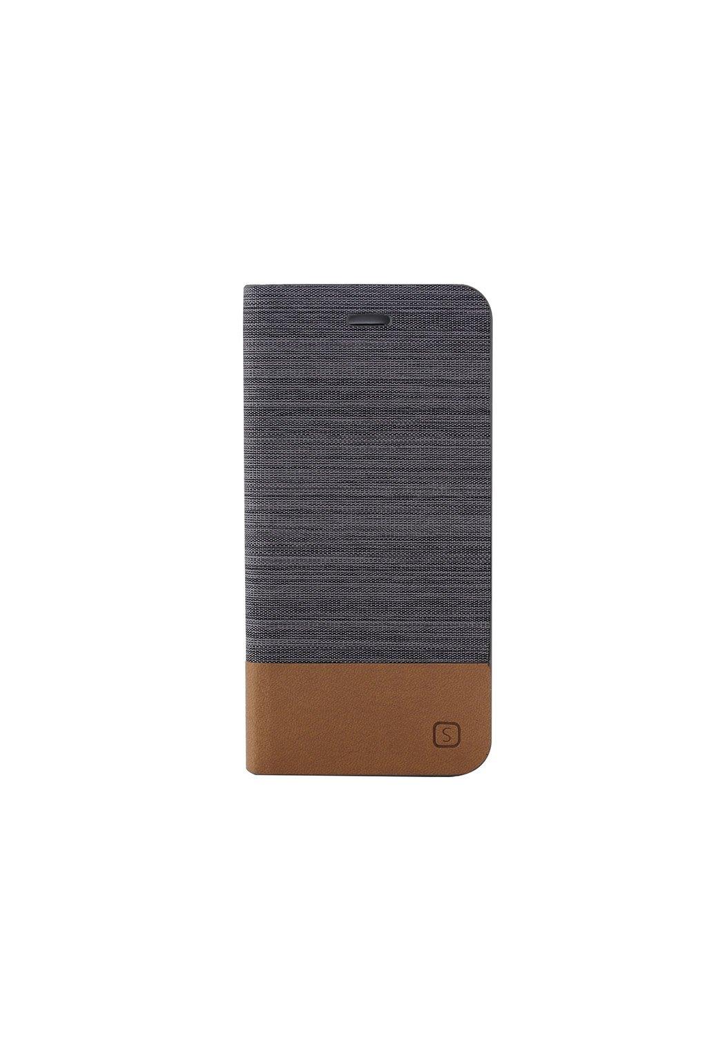 Pouzdro flip Canvas Apple iPhone 6/6S Plus, grey