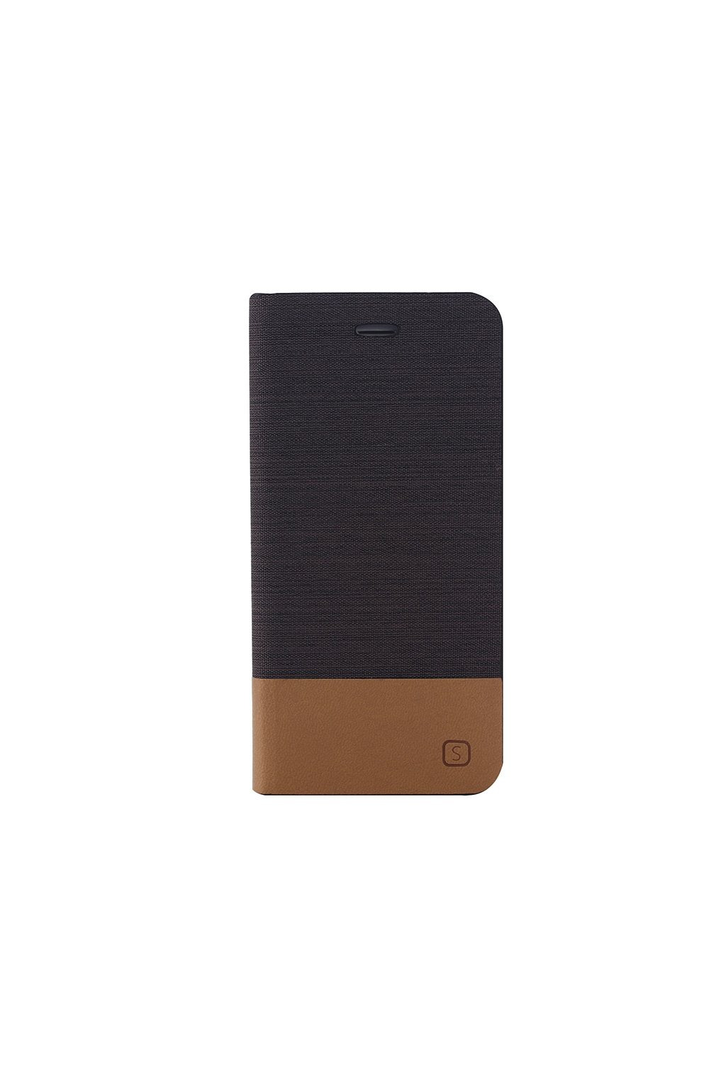 Pouzdro flip Canvas Apple iPhone 6/6S Plus, brown