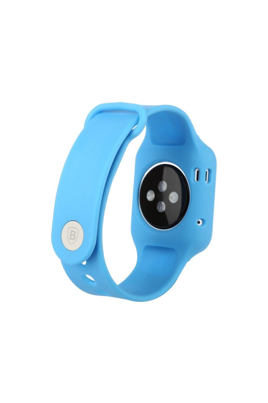 Silikonový řemínek vč. krytu Apple Watch 38mm, blue