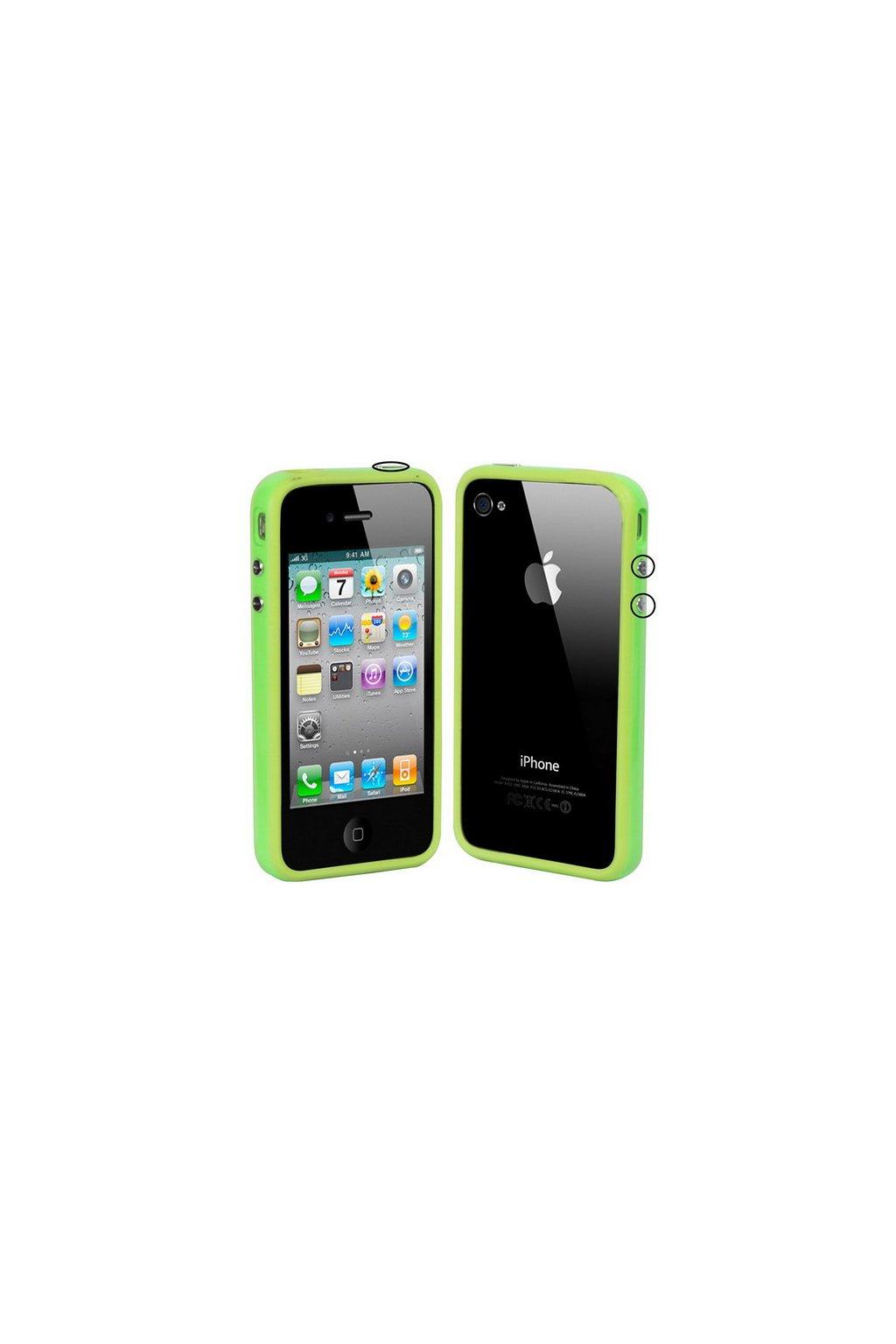 Pouzdro Bumper iPhone 4/4S, green