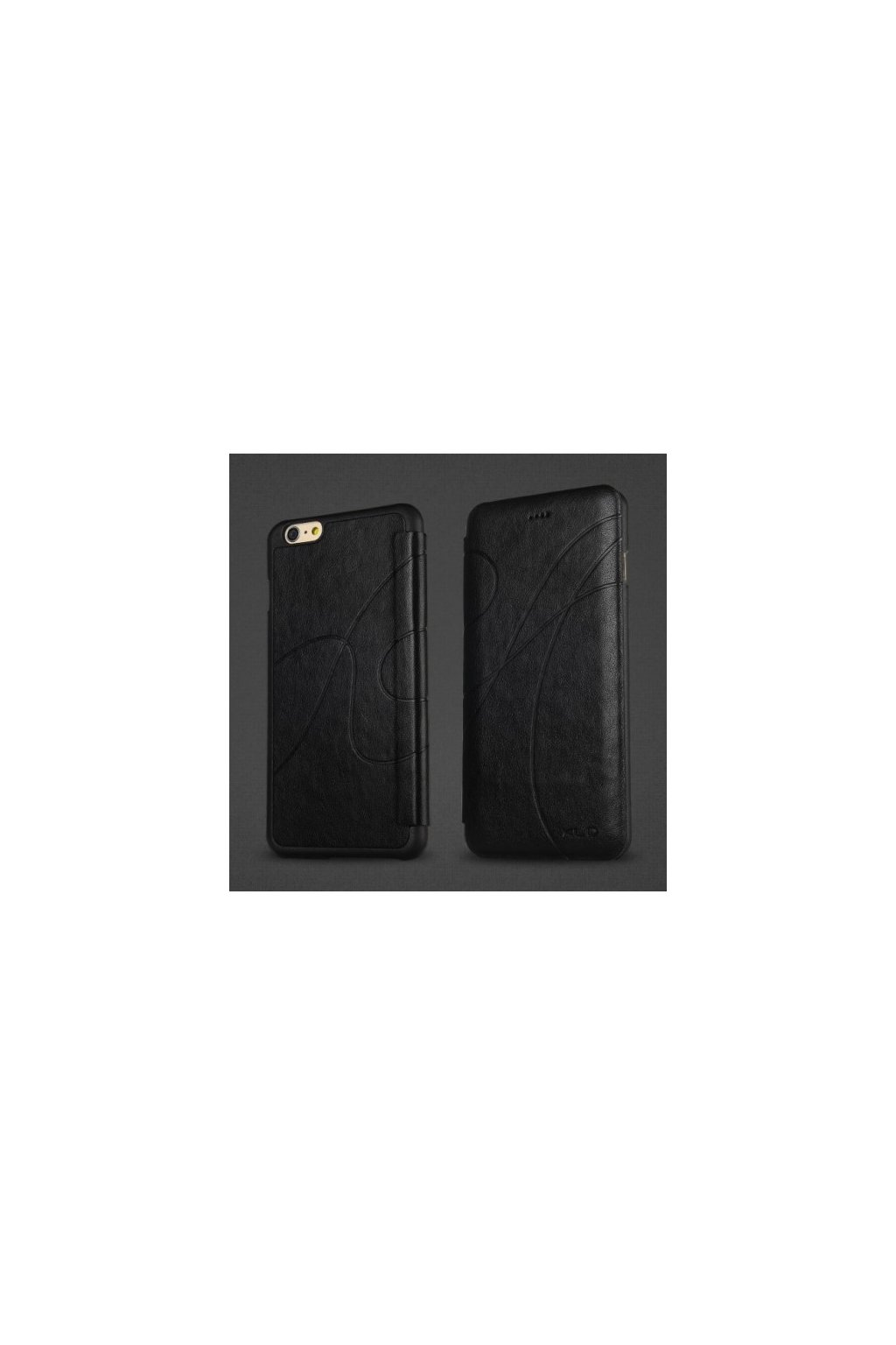Pouzdro flip Oscar Apple iPhone 6/6S Plus, black