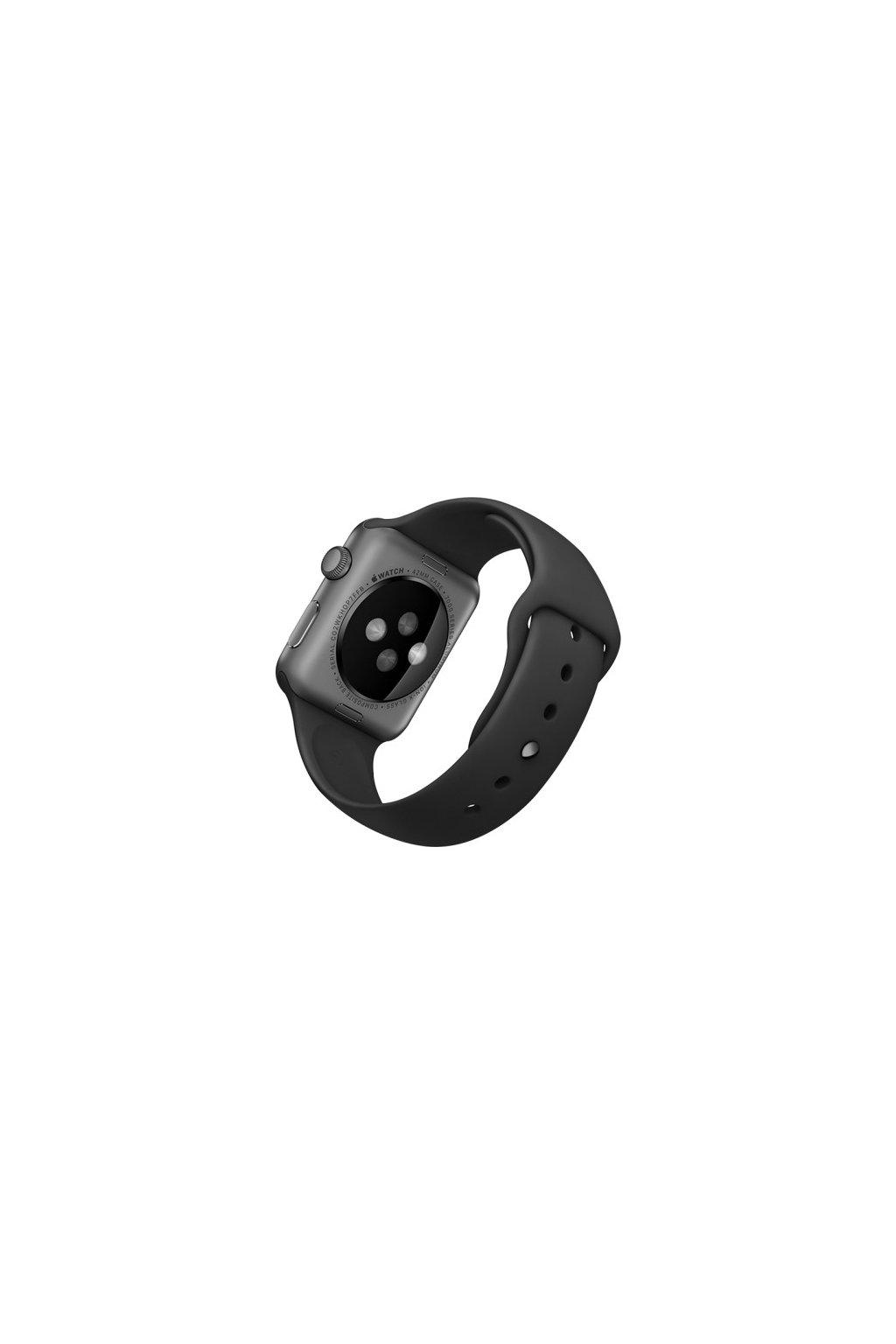 Silikonový řemínek Rock pro Apple Watch 38mm, black