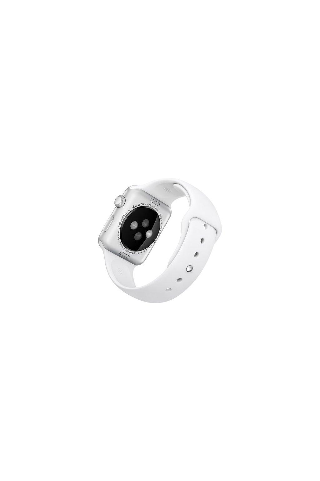 Silikonový řemínek Rock pro Apple Watch 38mm, white