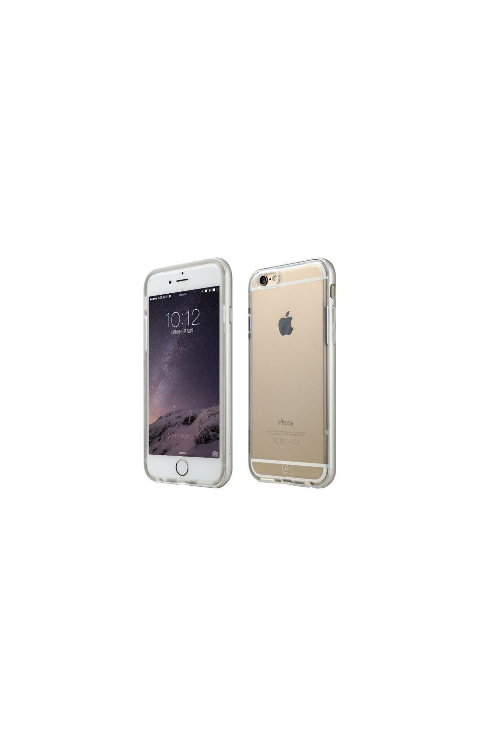 Pouzdro s kovovým rámem Baseus Apple iPhone 6/6S, Silver
