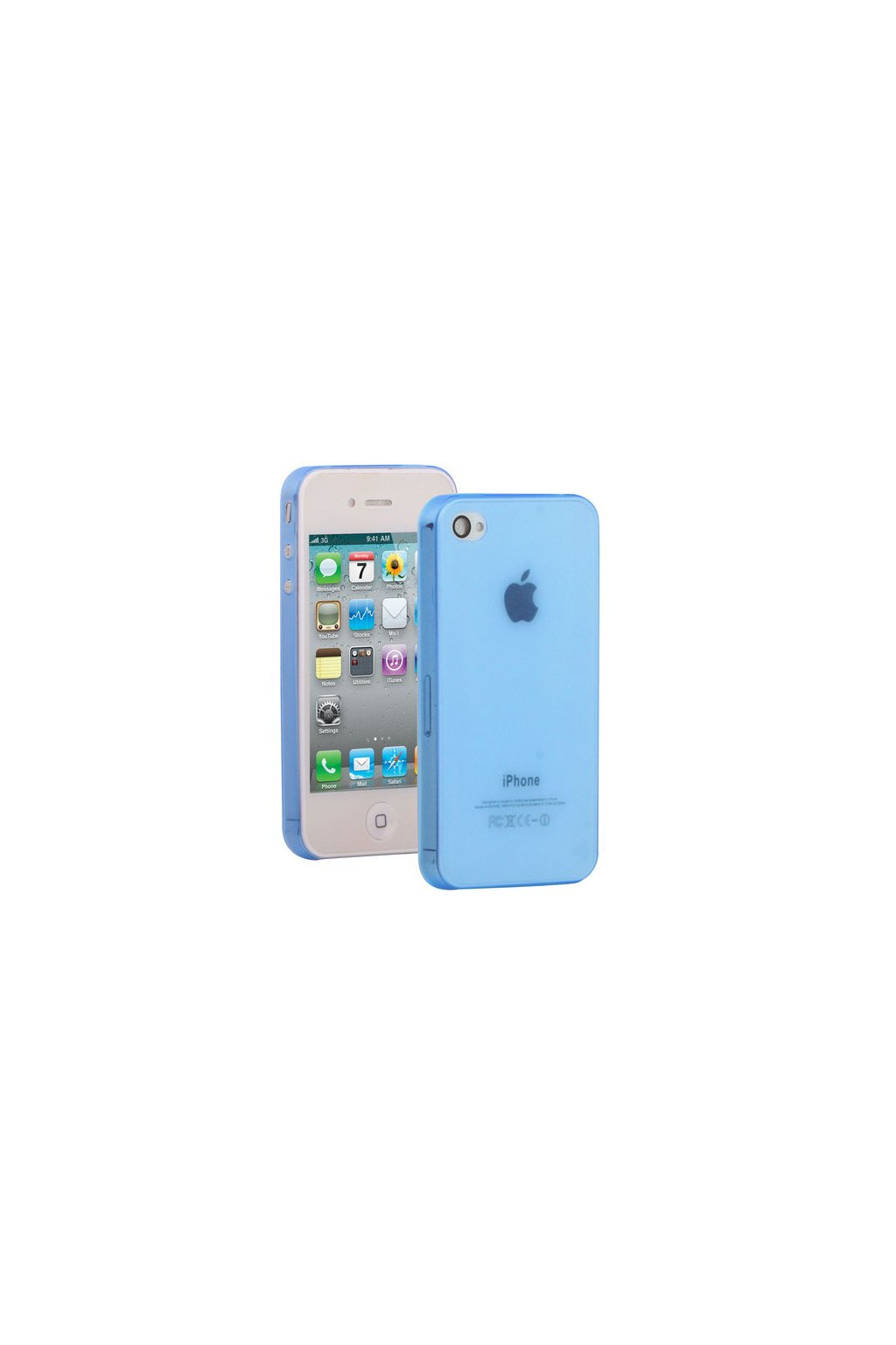 Pouzdro ultra tenké Thin iPhone 4/4S, blue/modrá