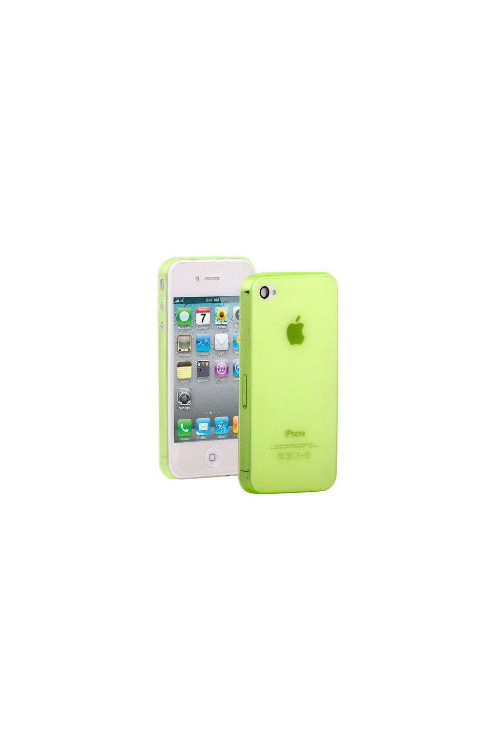 Pouzdro ultra tenké Thin iPhone 4/4S, green/zelená