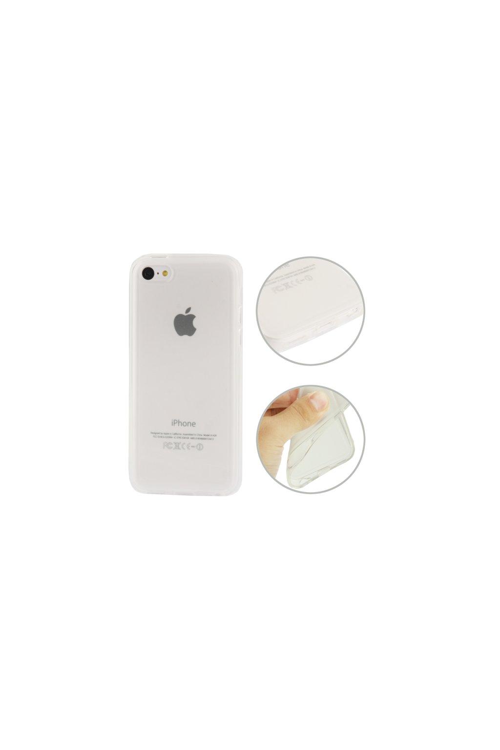 Pouzdro matné TPU iPhone 5C, transparentní