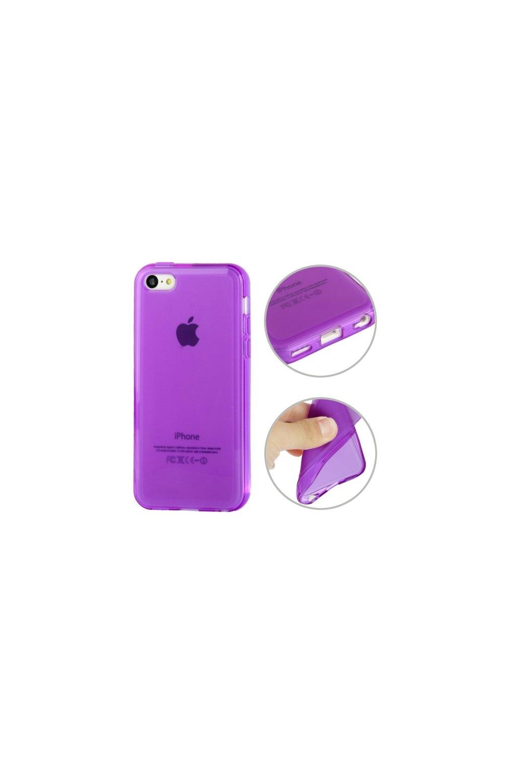 Pouzdro matné TPU iPhone 5C, purple/fialové