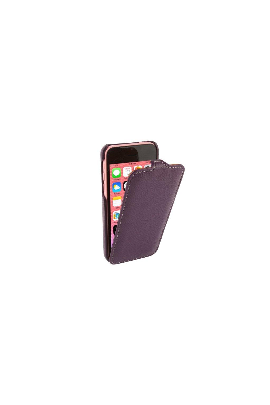 Pouzdro flip Melkco iPhone 5C, purple/fialová